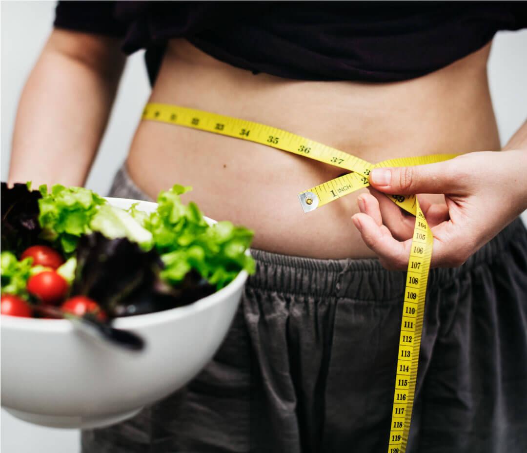 Salz und Gewichtsverlust